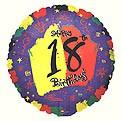 Bright 18th Birthday Balloon