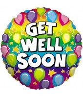 Rainbow Balloons Get Well Soon