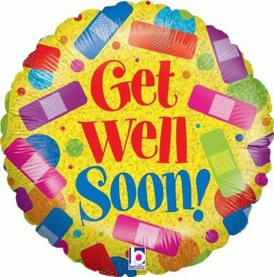 Get Well Soon Rainbow Plasters