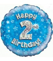 Blue 2nd Birthday Balloon