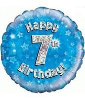 Blue 7th Birthday Balloon