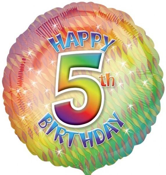 Multi Coloured 5th Birthday Balloon
