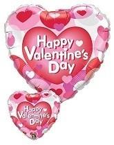 Happy Valentines Day Balloon - Hearts