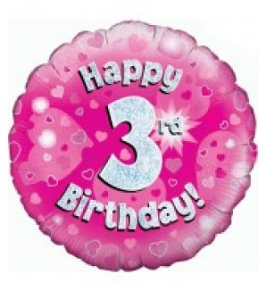 Happy 3rd Birthday Balloon