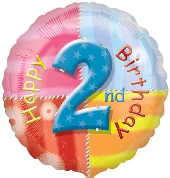 Multi Coloured 2nd Birthday Balloon
