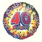 Birthday Explosion 40 Balloon