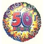 Birthday Explosion 50 Balloon