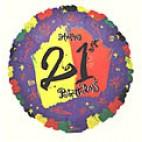 Bright 21st Birthday Balloon
