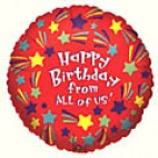 Happy Birthday From All of Us Balloon