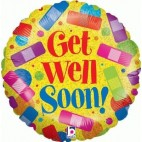 Get Well Soon Rainbow Plasters
