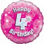 Happy 4th Birthday Balloon