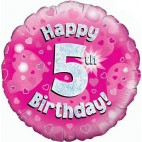 Happy 5th Birthday Balloon