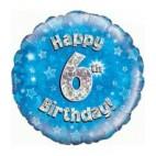 6th Blue Birthday Balloon