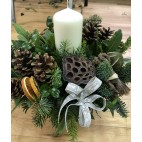 Christmas Scented Candle Centrepiece