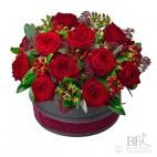 Luxury Red Rose Hatbox