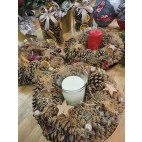 Pine Cone Candle Arrangement