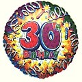 Birthday Explosion 30 Balloon