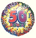 Birthday Explosion 50 Balloon