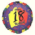 Bright 18th Birthday Balloon