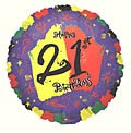 Bright 21st Birthday Balloon