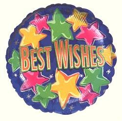 Best Wishes Starbright Balloon