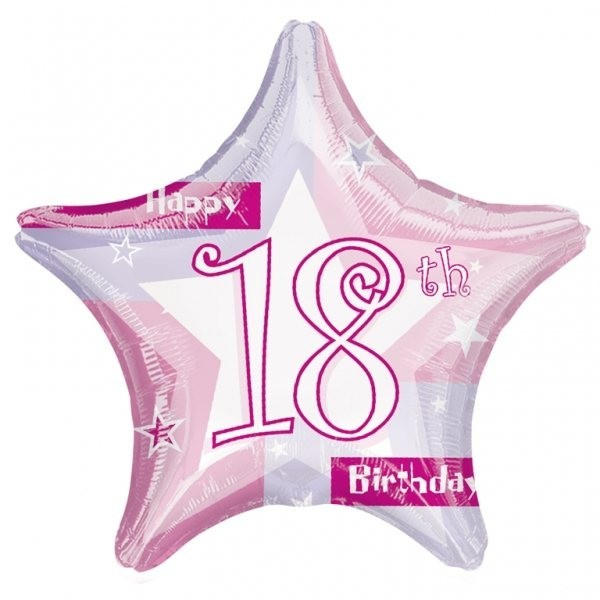 18th Birthday Pink Shimmer Balloon