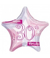 30th Birthday Pink Shimmer Balloon