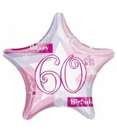 60th Birthday Pink Shimmer Balloon