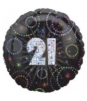 21st Birthday Time To Party Balloon