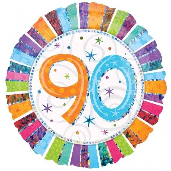 90th Radiant Birthday Balloon