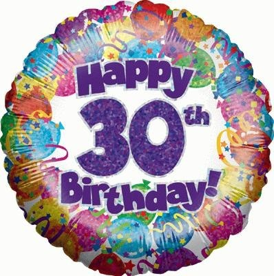 """Happy 30th Birthday"" Balloon"