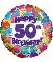 """Happy 50th Birthday"" Balloon"