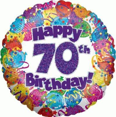 """Happy 70th Birthday"" Balloon"