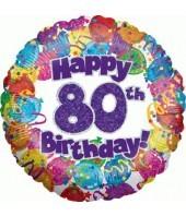 """Happy 80th Birthday"" Balloon"