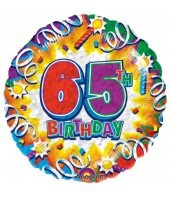 65th Birthday Explosion Balloon