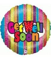 Get Well Soon Rainbow Stripes