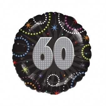 60th Birthday Time To Party Balloon