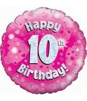 Pink 10th Birthday Balloon