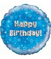 Blue Happy Birthday Balloon