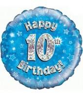 Blue 10th Birthday Balloon