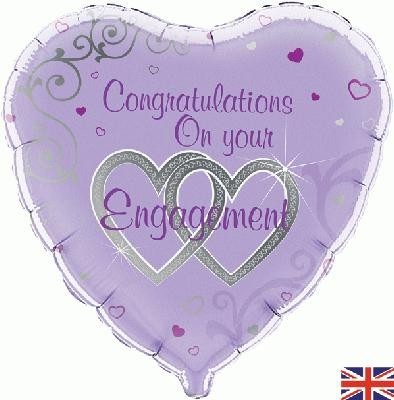 Purple Congratulations on your Engagement