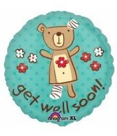 Teddy Bear get well soon Balloon