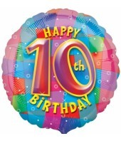 Multi Coloured 10th Birthday