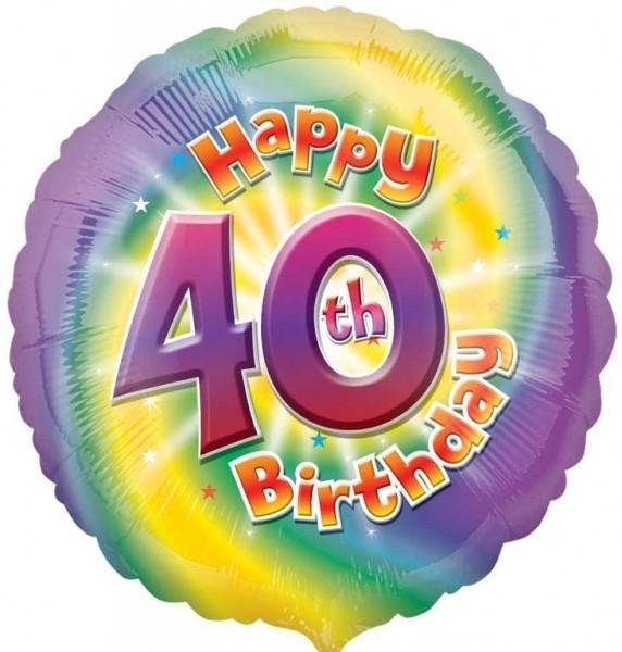 Multi Coloured 40th Birthday Balloon