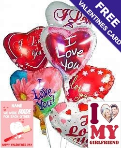 6 Valentine Balloon Bouquet