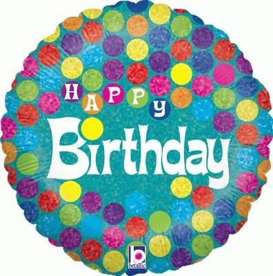 Happy Birthday Balloon Dots