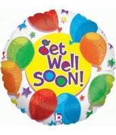 Colour Get Well Balloon
