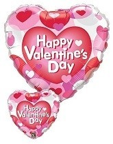 Happy Valentines Day Balloon - Hearts