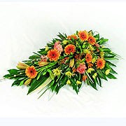 Orange and Yellow Funeral Spray