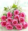 Twelve Pink Roses